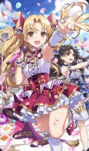 FGO青い空に花が舞う。エレシュキガルとイシュタルがアイドル衣装で可愛い![星5礼装フラワー・シャイン]